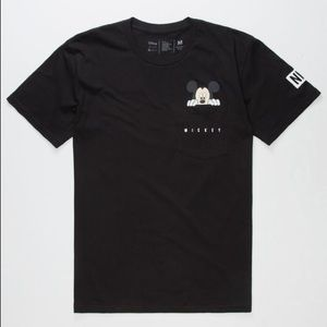Neff x Disney black Mickey pocket t-shirt